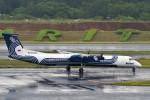 T.Sazenさんが、成田国際空港で撮影したオーロラ DHC-8-402Q Dash 8の航空フォト(飛行機 写真・画像)