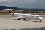 cornicheさんが、マドリード・バラハス国際空港で撮影したエア・ノーストラム CL-600-2E25 Regional Jet CRJ-1000の航空フォト(飛行機 写真・画像)