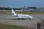 おぶりがーどさんが、松本空港で撮影した朝日航洋 680 Citation Sovereignの航空フォト(写真)