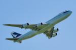 ちゃぽんさんが、成田国際空港で撮影したキャセイパシフィック航空 747-867F/SCDの航空フォト(写真)
