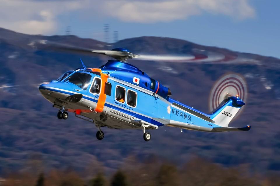 アミーゴさんの長野県警察 AgustaWestland AW139 (JA220E) 航空フォト