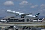 garrettさんが、ロサンゼルス国際空港で撮影したキャセイパシフィック航空 777-367/ERの航空フォト(写真)