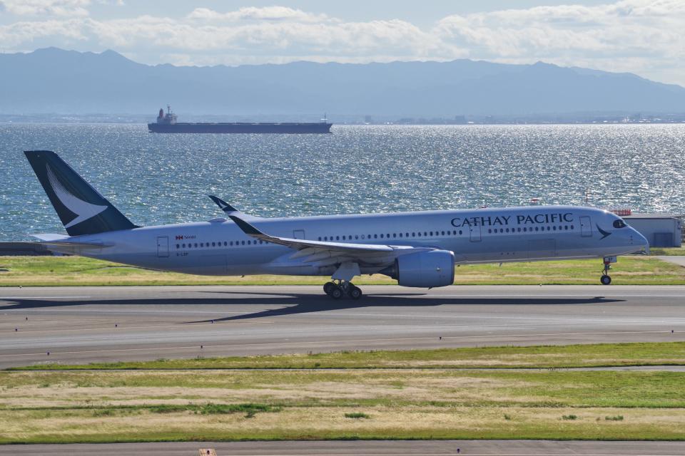 yabyanさんのキャセイパシフィック航空 Airbus A350-900 (B-LRP) 航空フォト
