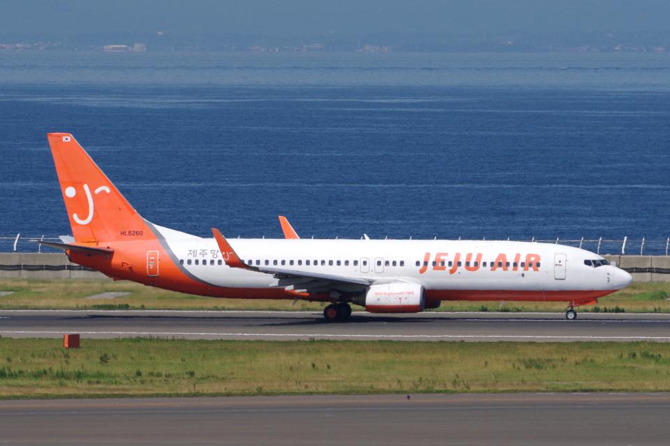 yabyanさんのチェジュ航空 Boeing 737-800 (HL8260) 航空フォト