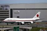にしやんさんが、羽田空港で撮影した航空自衛隊 747-47Cの航空フォト(写真)