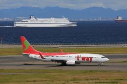 じゃりんこさんが、中部国際空港で撮影したティーウェイ航空 737-8GJの航空フォト(写真)