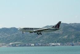 garrettさんが、香港国際空港で撮影したカタール航空 A330-202の航空フォト(飛行機 写真・画像)