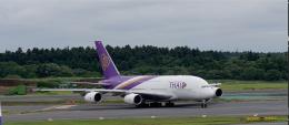 nishikiさんが、成田国際空港で撮影したタイ国際航空 A380-841の航空フォト(飛行機 写真・画像)