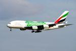 まいけるさんが、スワンナプーム国際空港で撮影したエミレーツ航空 A380-861の航空フォト(写真)