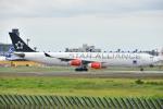 よしポンさんが、成田国際空港で撮影したスカンジナビア航空 A340-313Xの航空フォト(写真)