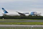 よしポンさんが、成田国際空港で撮影したエジプト航空 777-36N/ERの航空フォト(写真)