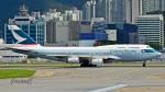少年のjasonさんが、香港国際空港で撮影したキャセイパシフィック航空 747-467の航空フォト(写真)