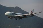 トールさんが、香港国際空港で撮影したカーゴルクス 747-467F/SCDの航空フォト(写真)