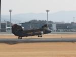 ジジさんが、熊本空港で撮影した陸上自衛隊 CH-47JAの航空フォト(写真)