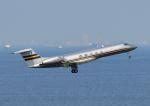 じーく。さんが、羽田空港で撮影したイタリア企業所有 G-V-SP Gulfstream G550の航空フォト(飛行機 写真・画像)
