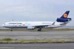 キイロイトリさんが、関西国際空港で撮影したルフトハンザ・カーゴ MD-11Fの航空フォト(写真)