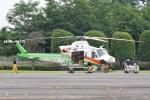 camelliaさんが、群馬ヘリポートで撮影した群馬県防災航空隊 412EPの航空フォト(写真)