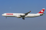 mameshibaさんが、成田国際空港で撮影したスイスインターナショナルエアラインズ A340-313Xの航空フォト(写真)