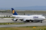 眠たいさんが、関西国際空港で撮影したルフトハンザドイツ航空 747-400の航空フォト(写真)
