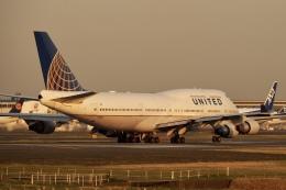 飛行機ゆうちゃんさんが、成田国際空港で撮影したユナイテッド航空 747-422の航空フォト(飛行機 写真・画像)
