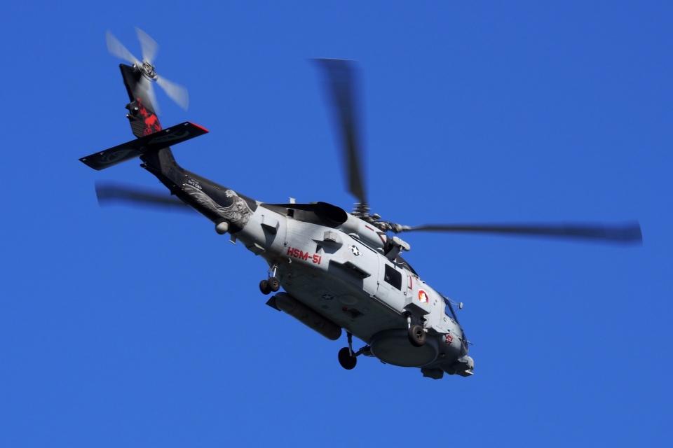 飛行機ゆうちゃんさんのアメリカ海軍 Sikorsky S-70 (H-60 Black Hawk/Seahawk) (167016) 航空フォト
