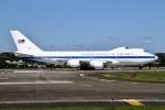 ちゅういちさんが、横田基地で撮影したアメリカ空軍 E-4B (747-200B)の航空フォト(写真)
