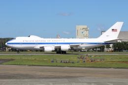 マリオ先輩さんが、横田基地で撮影したアメリカ空軍 E-4B (747-200B)の航空フォト(写真)