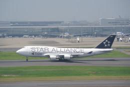 鱚楽鯛遊さんが、羽田空港で撮影したタイ国際航空 747-4D7の航空フォト(飛行機 写真・画像)