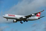 こむぎさんが、成田国際空港で撮影したスイスインターナショナルエアラインズ A340-313Xの航空フォト(写真)