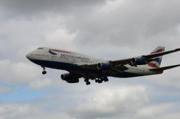 はれいろさんが、ロンドン・ヒースロー空港で撮影したブリティッシュ・エアウェイズ 747-436の航空フォト(飛行機 写真・画像)