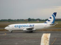 yabyanさんが、セピンガン国際空港で撮影したエクスプレス・エア 737-284/Advの航空フォト(飛行機 写真・画像)