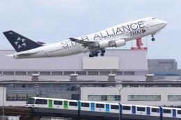 多摩川崎2Kさんが、羽田空港で撮影したタイ国際航空 747-4D7の航空フォト(飛行機 写真・画像)