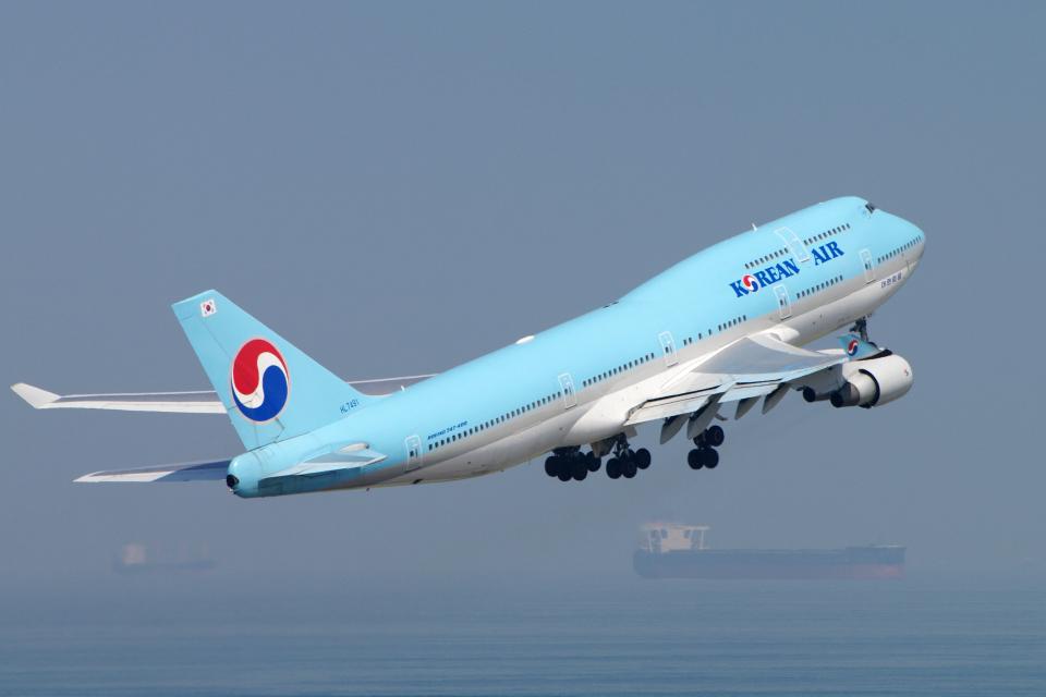 yabyanさんの大韓航空 Boeing 747-400 (HL7491) 航空フォト