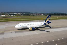 jombohさんが、チューリッヒ空港で撮影したブルガリアン・イーグル A319-132の航空フォト(飛行機 写真・画像)