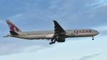 パンダさんが、成田国際空港で撮影したカタール航空 777-3DZ/ERの航空フォト(写真)
