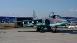 ちゃぽんさんが、ジュコーフスキー空港で撮影したロシア空軍 Sukhoi Su-25の航空フォト(飛行機 写真・画像)
