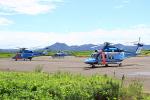 しょうせいさんが、岡南飛行場で撮影した長野県警察 AW139の航空フォト(写真)