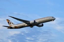 飛行機ゆうちゃんさんが、成田国際空港で撮影したエティハド航空 787-9の航空フォト(飛行機 写真・画像)