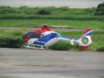 sp3混成軌道さんが、岡南飛行場で撮影した毎日新聞社 EC135T1の航空フォト(写真)