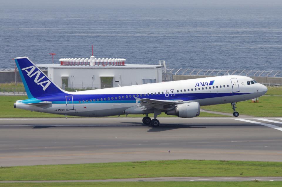 yabyanさんの全日空 Airbus A320 (JA203A) 航空フォト