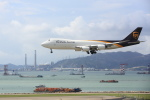 安芸あすかさんが、香港国際空港で撮影したUPS航空 747-8Fの航空フォト(写真)