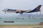 安芸あすかさんが、香港国際空港で撮影したアトラス航空 747-87UF/SCDの航空フォト(写真)
