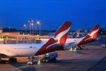 安芸あすかさんが、シンガポール・チャンギ国際空港で撮影したカンタス航空 A330-202の航空フォト(写真)