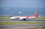 よんすけさんが、中部国際空港で撮影したティーウェイ航空 737-8Q8の航空フォト(写真)