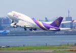 タミーさんが、羽田空港で撮影したタイ国際航空 747-4D7の航空フォト(写真)