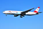 mojioさんが、成田国際空港で撮影したオーストリア航空 777-2Q8/ERの航空フォト(飛行機 写真・画像)