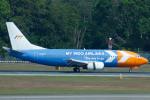 よっしぃさんが、シンガポール・チャンギ国際空港で撮影したマイ・インド・エアラインズ 737-330(QC)の航空フォト(写真)