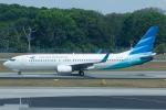 よっしぃさんが、シンガポール・チャンギ国際空港で撮影したガルーダ・インドネシア航空 737-8U3の航空フォト(写真)