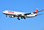 mojioさんが、成田国際空港で撮影したスイスインターナショナルエアラインズ A340-313Xの航空フォト(飛行機 写真・画像)