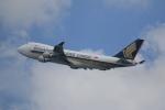 みるぽんたさんが、香港国際空港で撮影したシンガポール航空カーゴ 747-412F/SCDの航空フォト(写真)